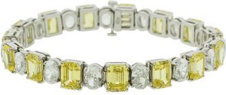 FANTASIA Cubic Zirconia Oval Bracelet