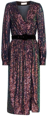 Rebecca Vallance Roxbury sequined midi dress