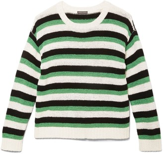 Vince Camuto Striped Dropped-shoulder Sweater