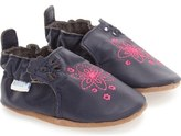 Robeez 'Flowerbomb Embroidery' Crib Shoe (Baby & Walker)