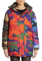 Moschino Camouflage Puffer Coat