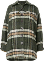 Chloé checked single breasted coat
