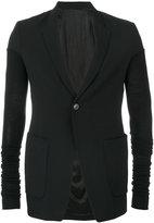 Rick Owens one button blazer - men - Silk/Cotton/Cupro/Virgin Wool - 48