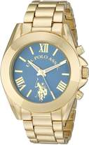 U.S. Polo Assn. Women's USC40048 Gold-Tone Bracelet Watch