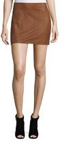 Alice + Olivia Sophya Suede Mini Skirt, Tan