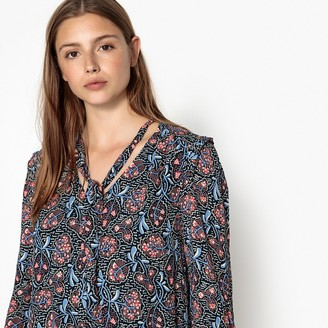 Suncoo Short Floral Print Shift Dress
