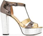 MICHAEL Michael Kors platform buckled sandals - women - Leather/rubber - 8.5