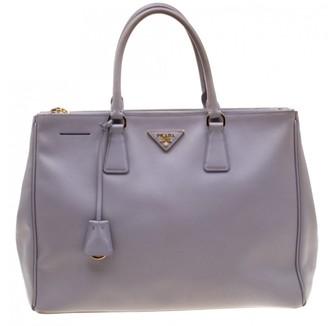 Prada saffiano Purple Leather Handbags