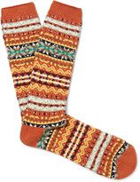 Anonymous Ism - Fair Isle Cotton-blend Socks