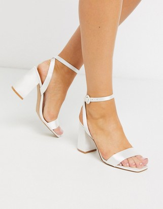 Be Mine Bridal Wink heeled sandals in ivory satin