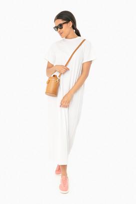 Pomander Place White Zoe Maxi Tee Dress