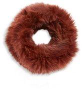 Loeffler Randall Fox Fur Cowl Scarf