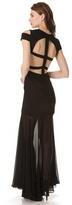 BCBGMAXAZRIA Ava Cutout Gown
