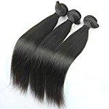 "MsFenda Hair Malaysian Hair Extensions, Genuine 5a Virgin RAW Unprocessed Remy Hair, Straight, 3 Bundles/ Lot 300 Gram 10""- 28"", Mixed Length Natural Black"
