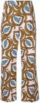 Marni printed high-waisted trousers
