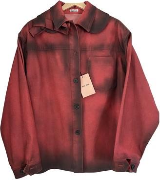 Miu Miu Red Cotton Jacket for Women