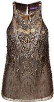 Ralph Lauren Savannah Hand-Beaded Tulle Top