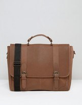 Asos Leather Satchel With Buckle Fastening