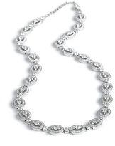 Nadri Crystal Stone Oval Link Necklace