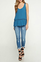 Love Stitch Lovestitch Blue Trim Tank