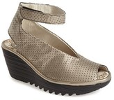 Fly London Women's 'Yala' Perforated Leather Sandal