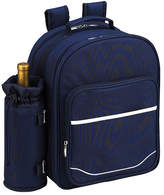 Picnic at Ascot Picnic Backpack for Two with Blanket - Navy/White Backpacks