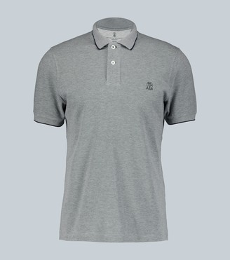 Brunello Cucinelli Slim-fit cotton polo shirt