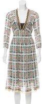 Giada Forte Azulejo Midi Dress
