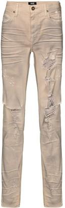 Paige Lennox deconstructed slim fit jeans