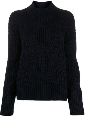 Drumohr Cable-Knit Roll-Neck Jumper