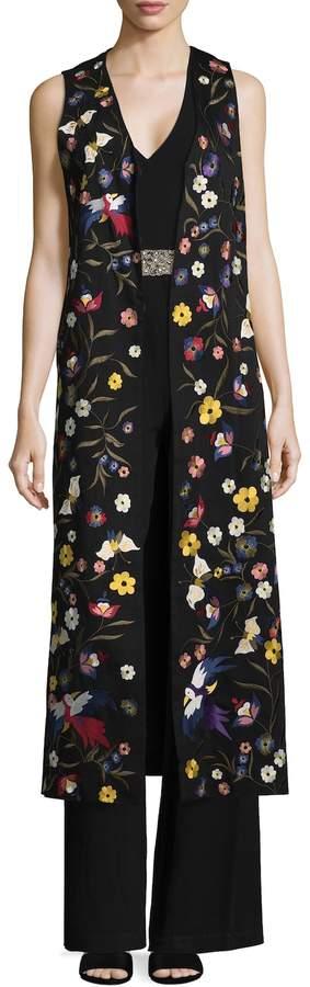 Alice + Olivia Women's Angelica Embroidered Maxi Vest