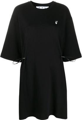 Off-White floral-Arrows T-shirt dress