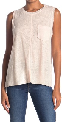 7 For All Mankind Linen Split Back Pocket Tank