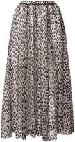 Forte Forte leopard print pleated skirt