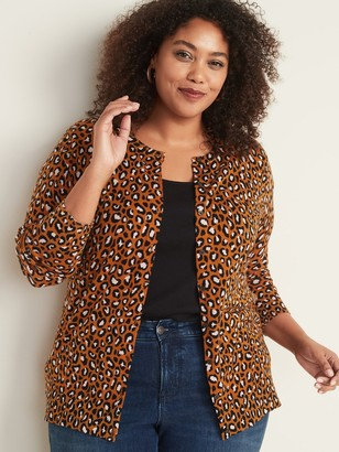 Old Navy Printed Crew-Neck Plus-Size Cardigan