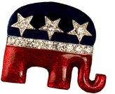 Stars & Stripes Products Enamel & Crystal Republican Logo Brooch/Pin