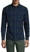Jachs Cotton Checkered Spread Collar Sportshirt
