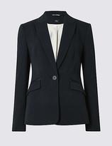 M&S Collection Grosgrain Trim Single Button Jacket
