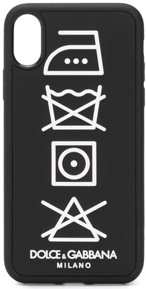 Dolce & Gabbana care tag iPhone X/XS cover