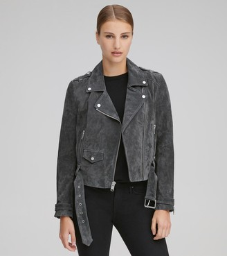 Andrew Marc Final Sale BOWERY SUEDE MOTO JACKET