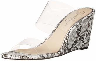Jessica Simpson Cilvey Wedge Sandal Clear 5.5