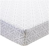 CoCalo Julian Collection Fitted Crib Sheet - Gray Trellis