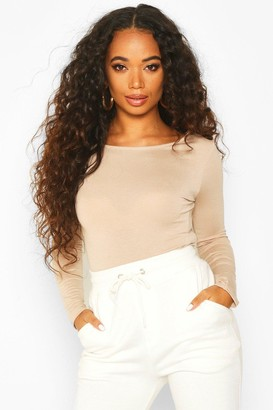 boohoo Petite Basic Long Sleeve Top