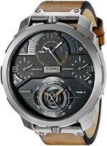 Diesel Men's DZ7359 Machinus Analog Display Quartz Stainless Steel Watch with Brown Leather Band