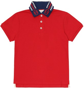Gucci Kids Stretch-cotton polo shirt