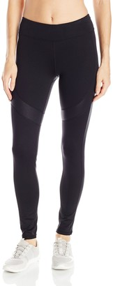 Andrew Marc Women's Long Active Legging W/Shine Accents