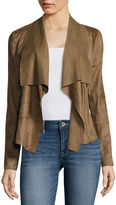 A.N.A a.n.a Faux-Suede Front-Draped Jacket