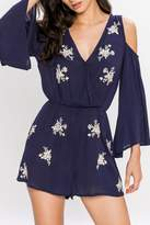 Flying Tomato Navy Sophie Romper