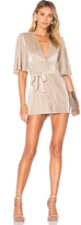 Saylor Emeline Romper in Metallic Gold. - size L (also in )