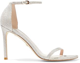Stuart Weitzman Amelina 95 Glittered Woven Sandals